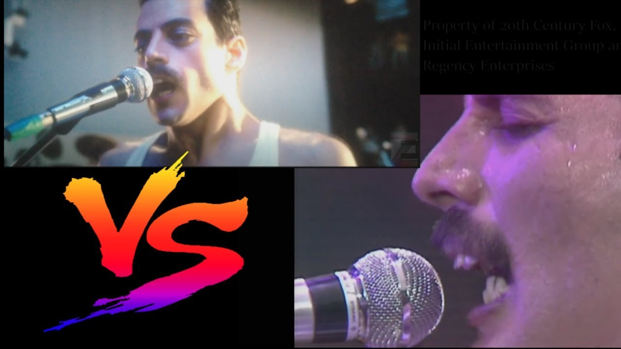 Comparing the Live Aid scene from